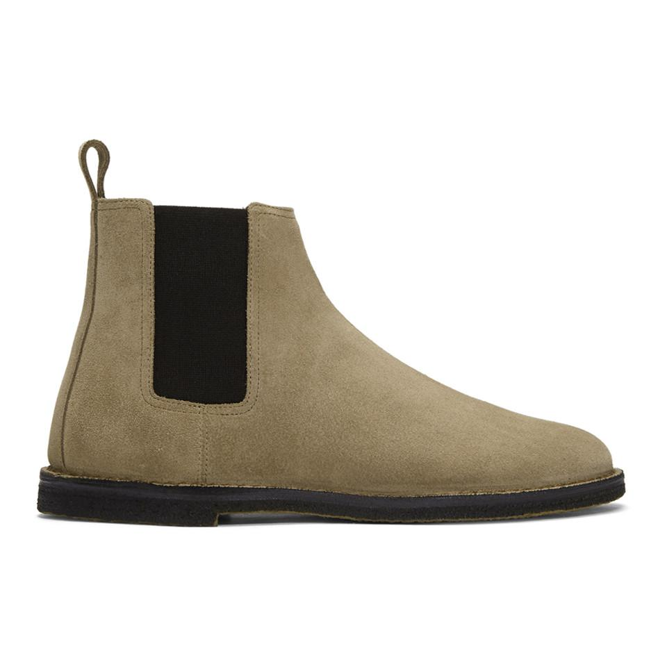 Saint Laurent Suede Crepe Sole Oran Chelsea Boots bBHdb8dPOT