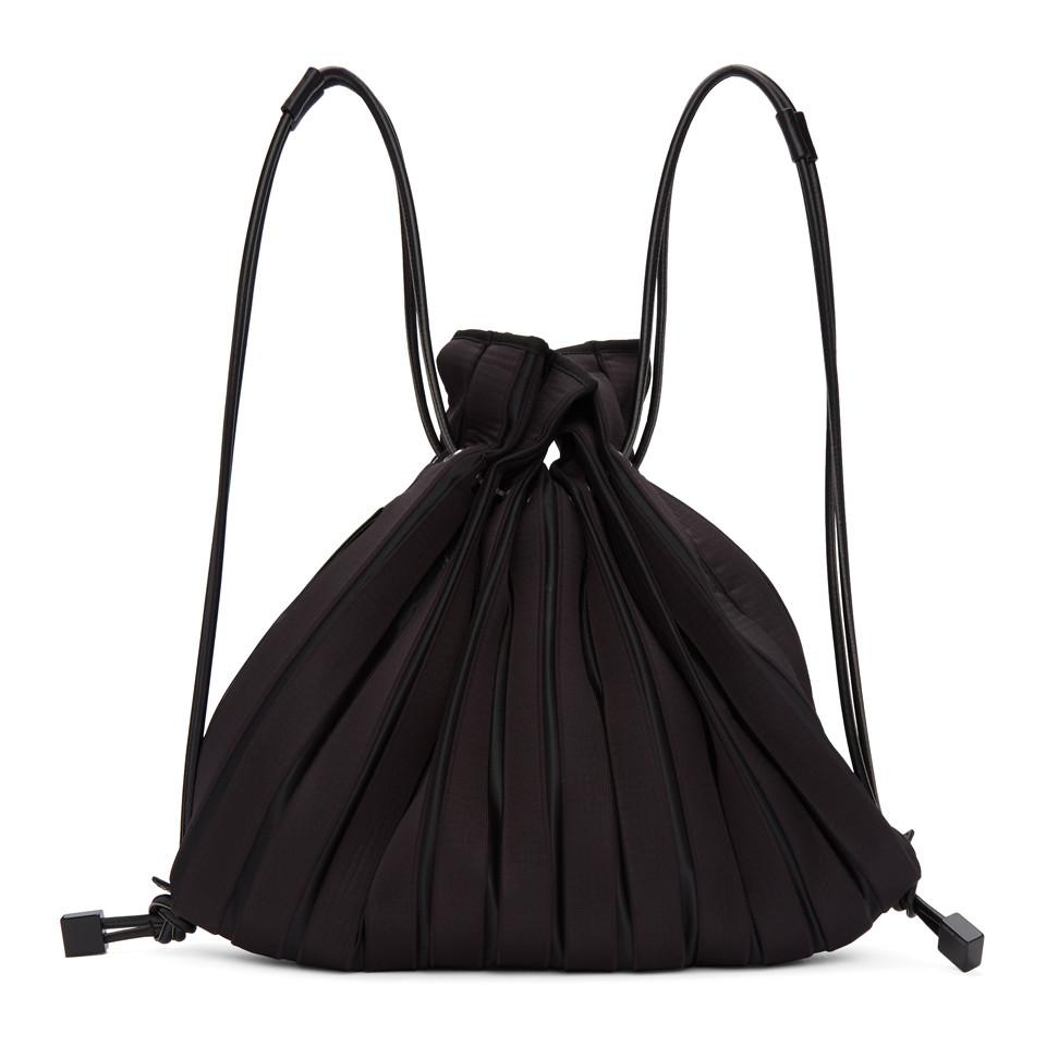 Sac coloris Linear Knit noir en Miyake Lyst Issey Noir dR0wqf