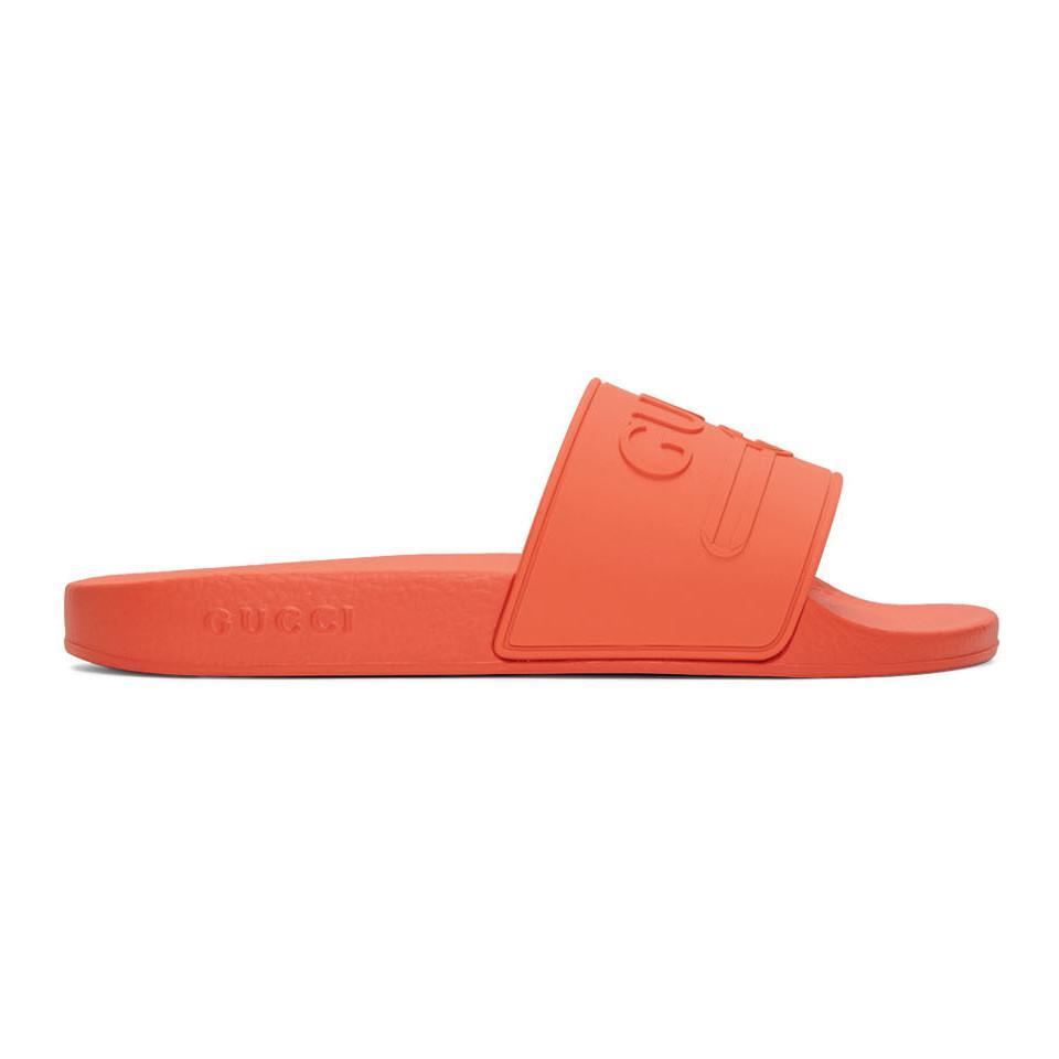 d6a29941c25d77 Gucci - Multicolor Orange Pursuit Pool Slides for Men - Lyst. View  fullscreen