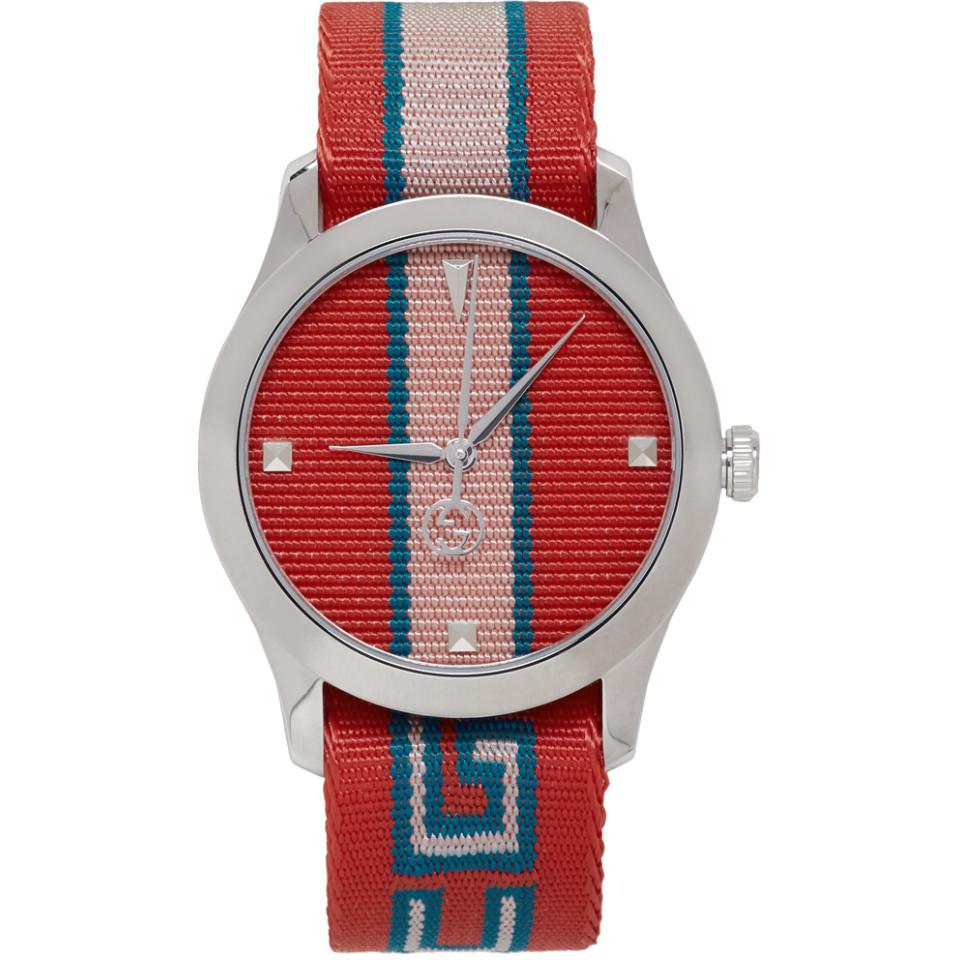 1b510981403 Gucci Red G-timeless Watch in Red - Lyst