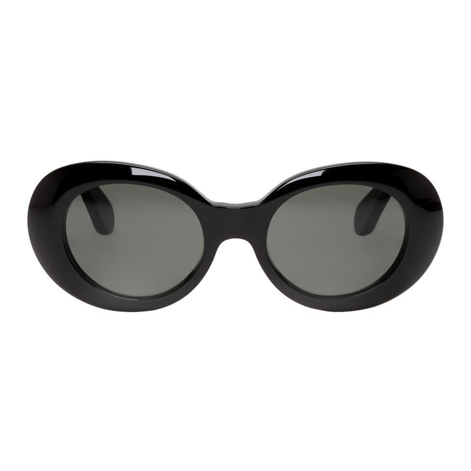 Lyst - Lunettes de soleil rondes noires Mustang Acne pour homme en ... e4029f8d7fc0
