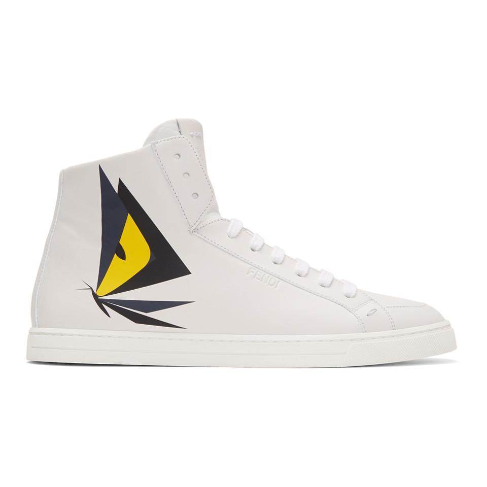 Fendi Butterfleyes High-Top Sneakers fhzxRw0s