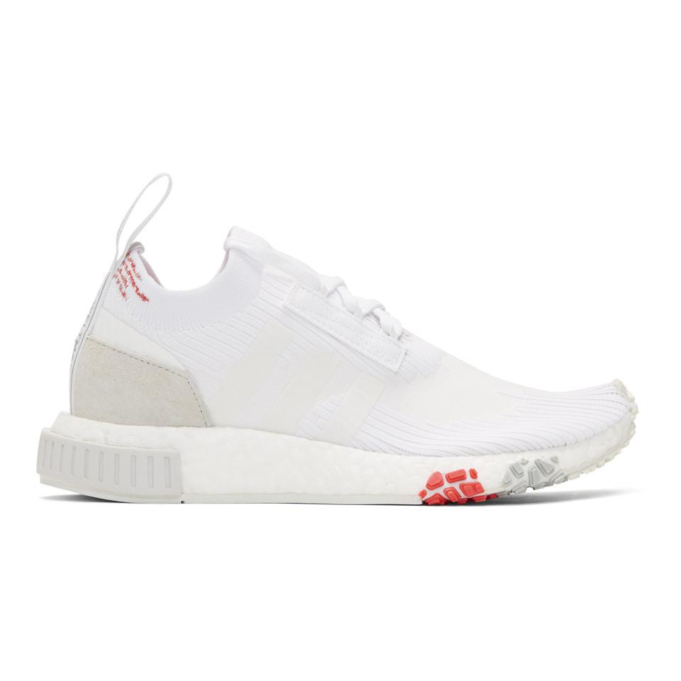 adidas Originals White & Red NMD Racer PK Sneakers XaLDdrdp