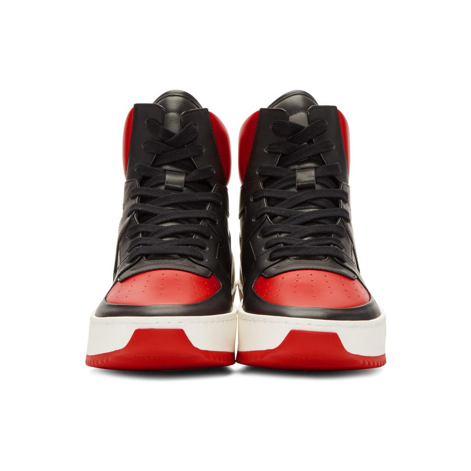 Red and Black B-Ball High-Top Sneakers Fear of God QcoxVrhk1