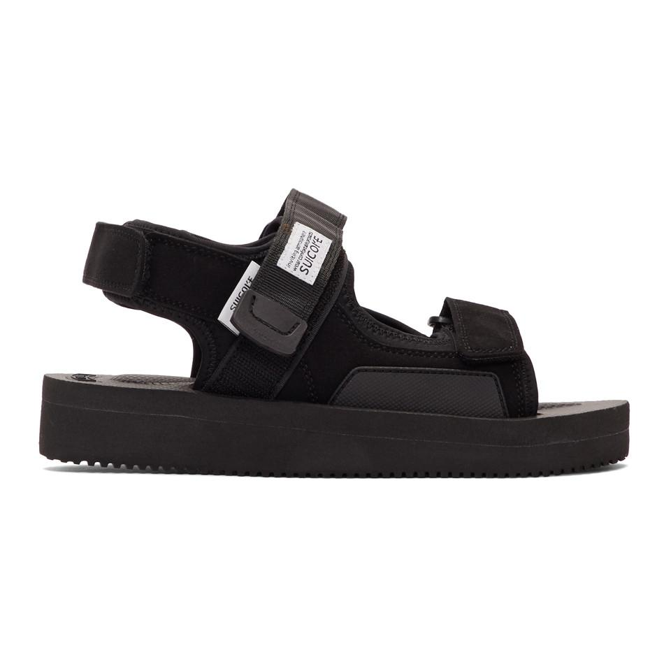 cc4e3bec571 Lyst - Suicoke Black Was-v Sandals in Black