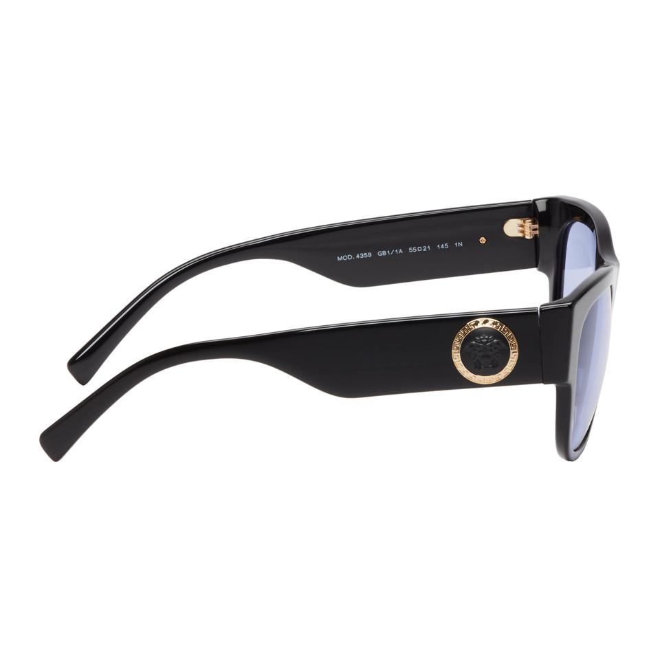 f87e7b31940f Versace - Black Medusa Ares Sunglasses for Men - Lyst. View fullscreen