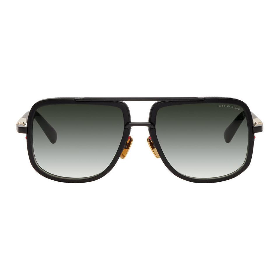 ca5c0e2f8a3d Lyst - DITA Black Mach-one Sunglasses in Black for Men