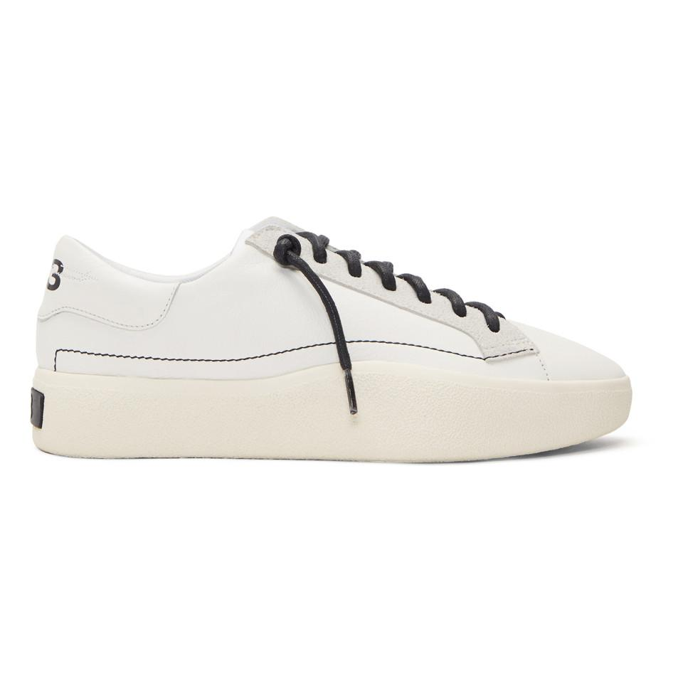 4776b9118d02b Y-3 White Tangutsu Lace Sneakers in White for Men - Lyst