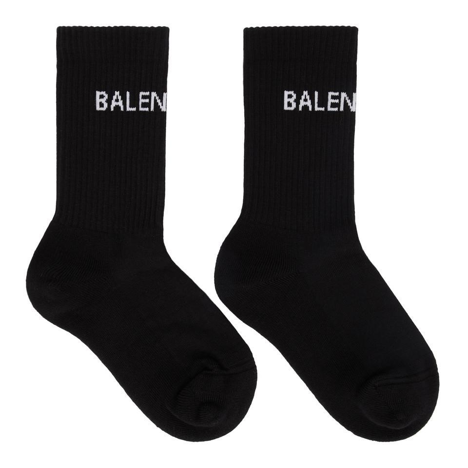Black Tight Logo Socks Balenciaga Free Shipping Explore Countdown Package For Sale Sale Sast 4KJtvZRhzP
