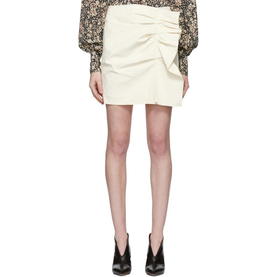 Sale Fake Best Place Cheap Price Black Lefly New Stretch Cotton Skirt Isabel Marant New LpzbJDs