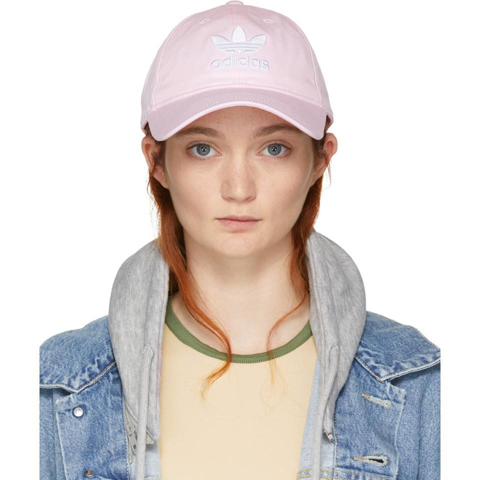 buy popular f14cf 4acac Adidas Originals - Pink Trefoil Cap - Lyst. View fullscreen