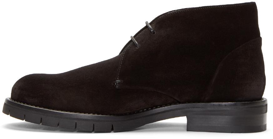 Clergerie Black Suede George Desert Boots 2vqndzcjE
