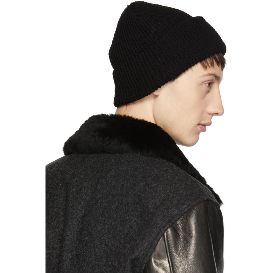 76adc1ff9 Paa Black Cashmere Waffle Beanie in Black for Men - Lyst