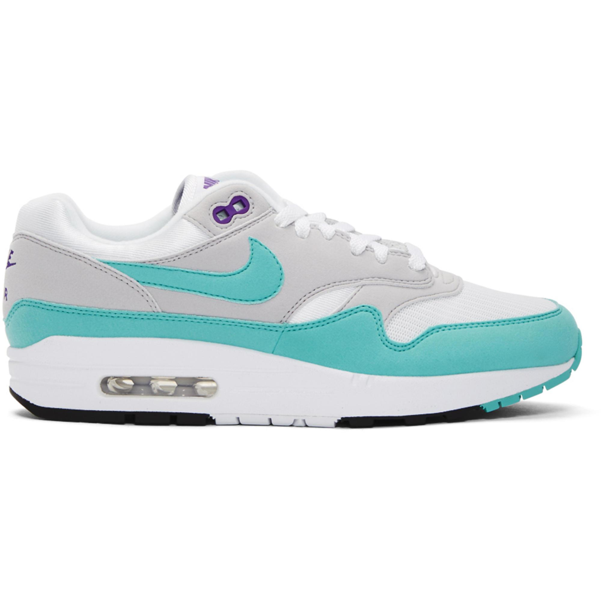 Lyst Nike White And Blue Air Max 1 Anniversary Sneakers in