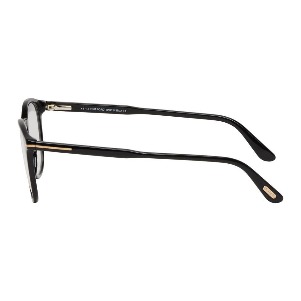 a8ffc2b1f4d Tom Ford - Multicolor Black Soft Round Glasses for Men - Lyst. View  fullscreen