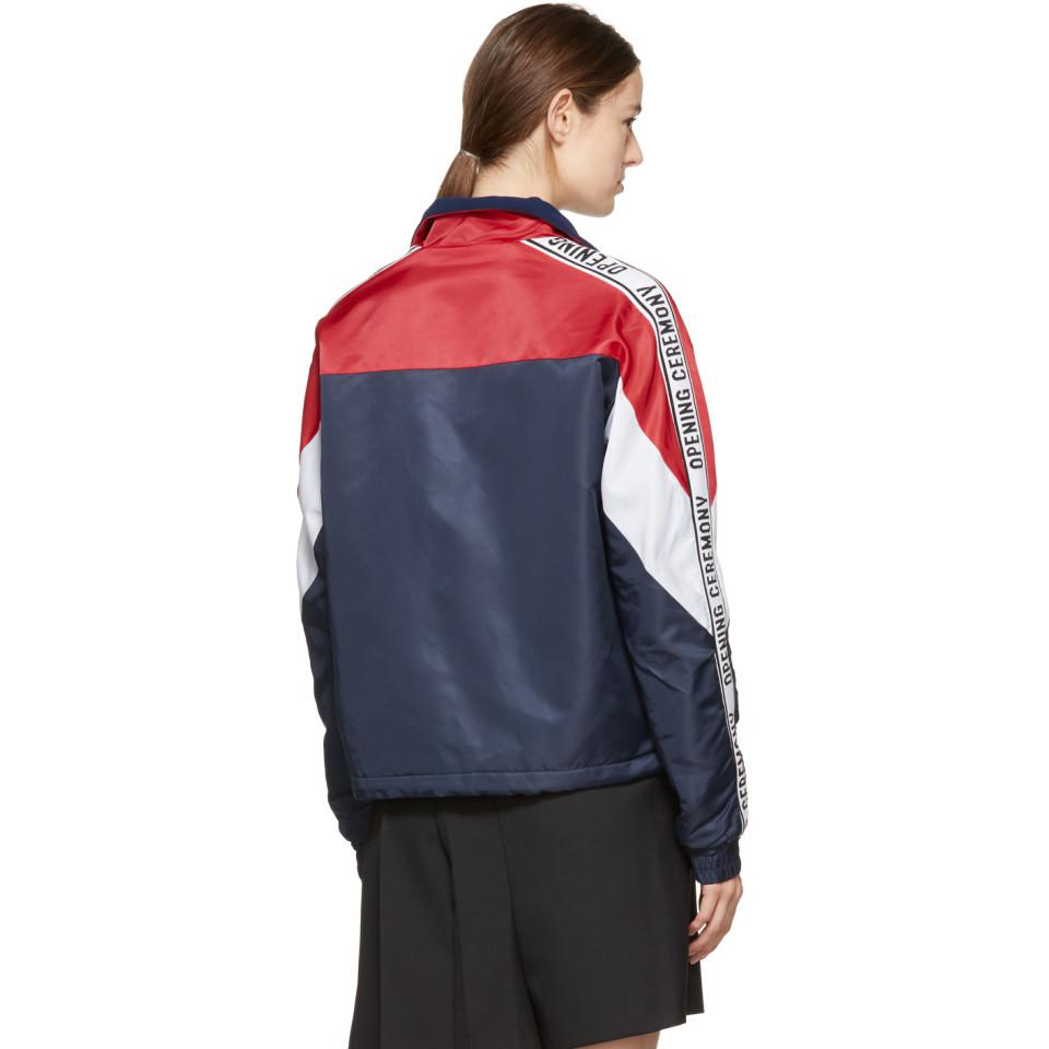 Opening Ceremony Navy Limited Edition Warm Up Jacket In