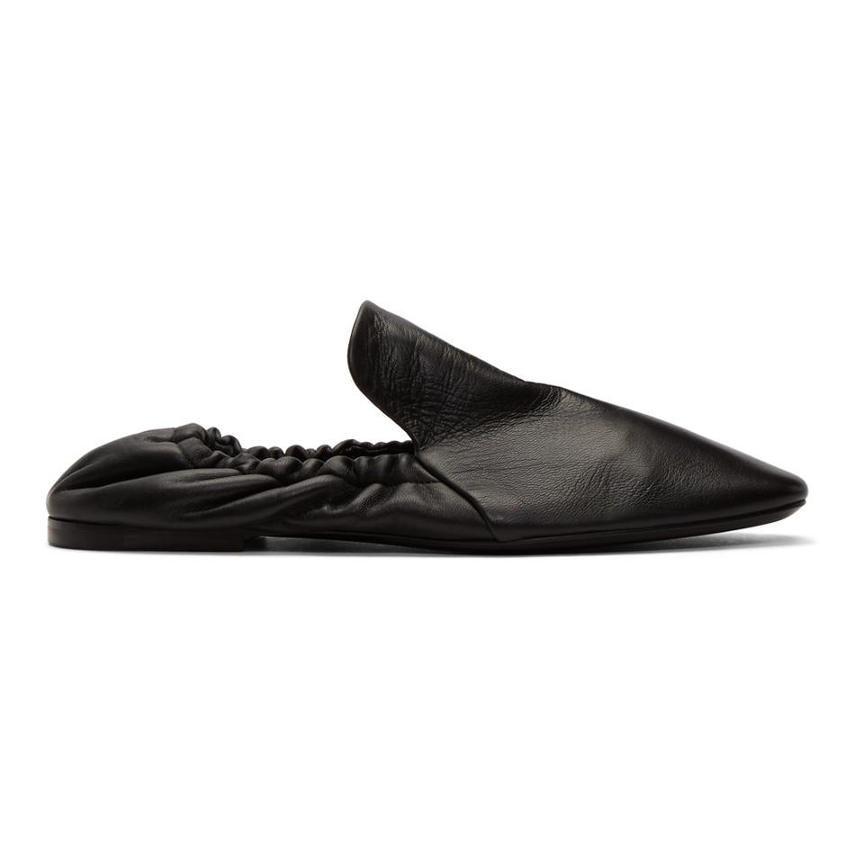 Jil Sander Black Soft Leather Slippers rqrXzmLjXr