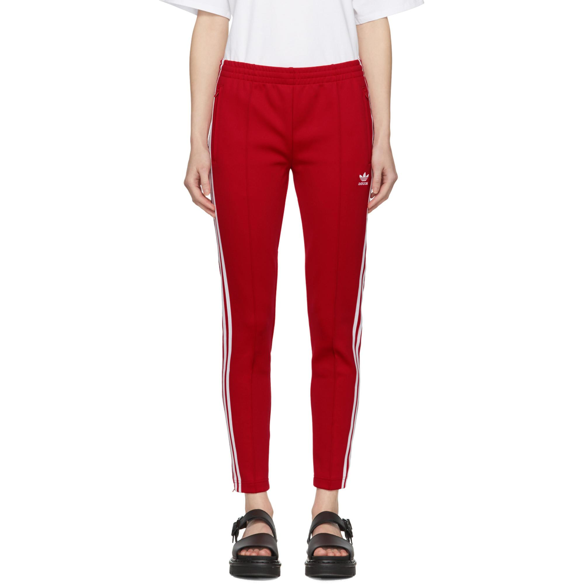 Lyst - Pantalon de survêtement rouge SST adidas Originals en coloris ... faf4c070ffb