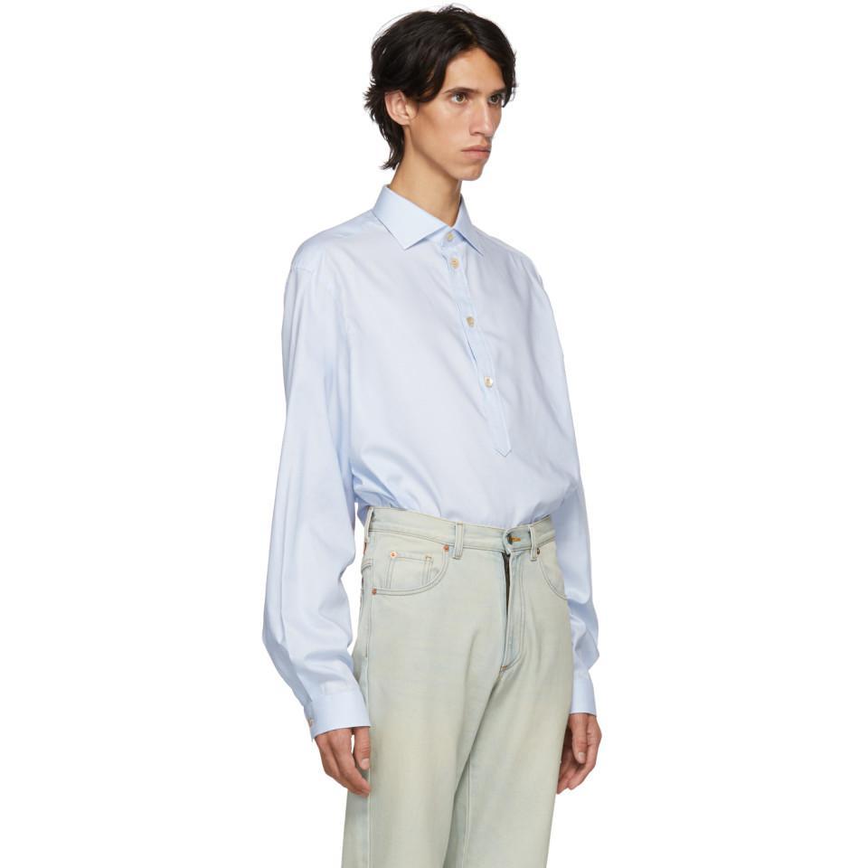 e337227996c Gucci - Blue Chemise bleue Alessandro for Men - Lyst. Afficher en plein  écran
