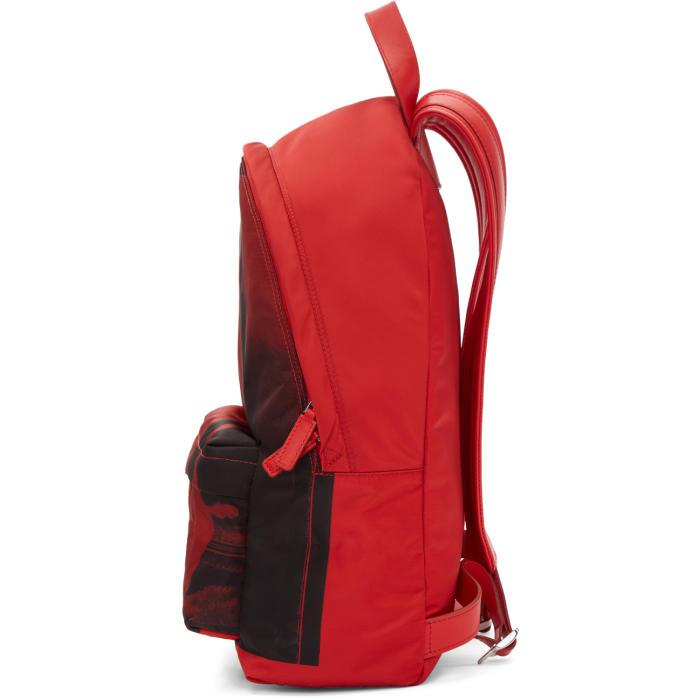 f84792a654 Lyst - Givenchy Red Small Nylon Bambi Backpack in Red