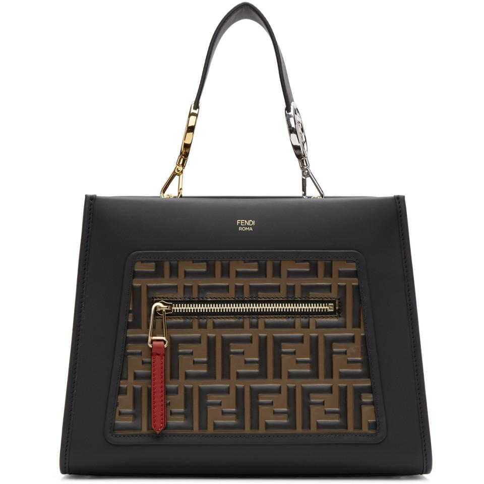18ca7d730717 Lyst - Fendi Black Small Forever Runaway Bag in Black
