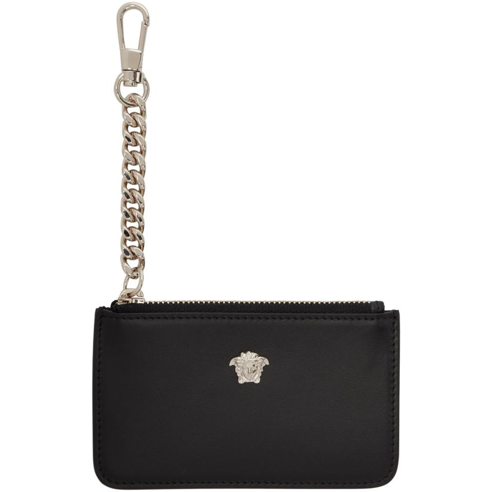 4d5542508ace Lyst - Versace Black Small Medusa Coin Pouch in Black