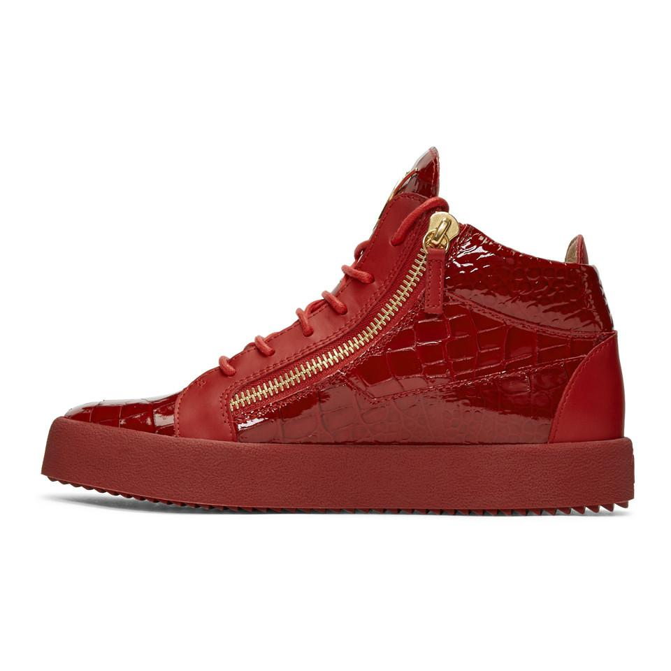 Cheap Sale New Arrival Red Patent May London High-Top Sneakers Giuseppe Zanotti 100% Authentic Sale Online Shop For Choice Cheap Price Outlet 2018 ortsplp
