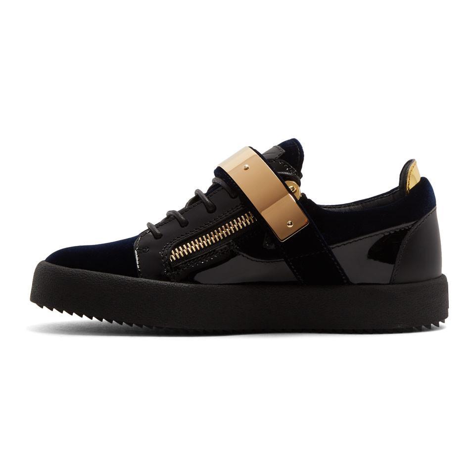 Navy and Black Velvet May London Sneakers Giuseppe Zanotti nlCoK2EqT