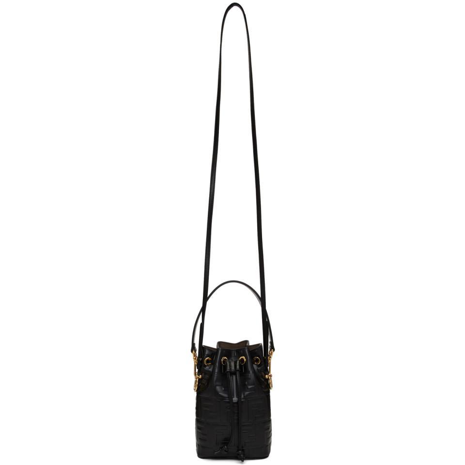 4bdd02ba0c85 Fendi Black Mini Forever Mon Tresor Bag in Black - Lyst