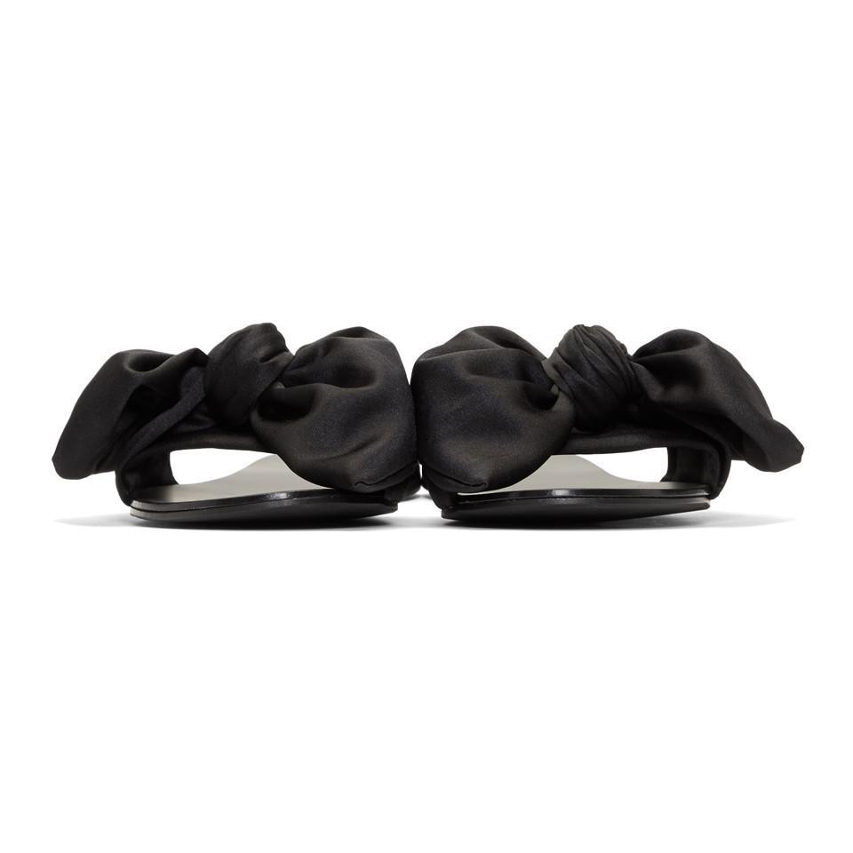 Le Petit Trou Black Cleo Bow Slides lBYp1kndk