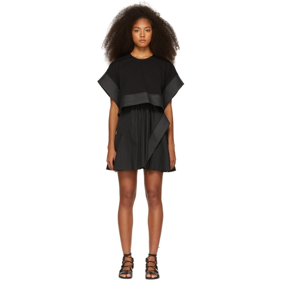 e61a34f4dc2512 3.1 Phillip Lim - Black Box Crop Top Dress - Lyst. View fullscreen