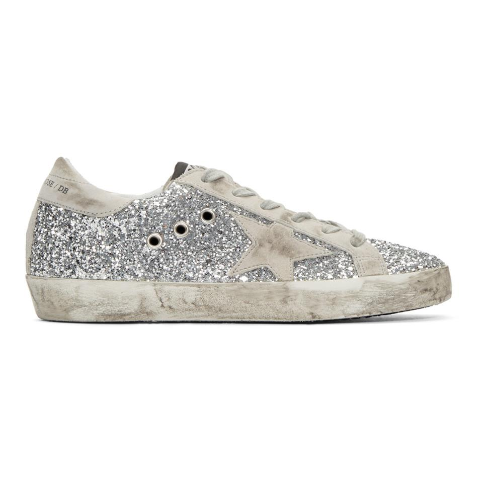 SSENSE Exclusive Silver and Grey Superstar Sneakers Golden Goose Shipping Discount Sale Discount 2018 Outlet 2018 Cheap Sale Lowest Price Discount Explore StYpfqpEj