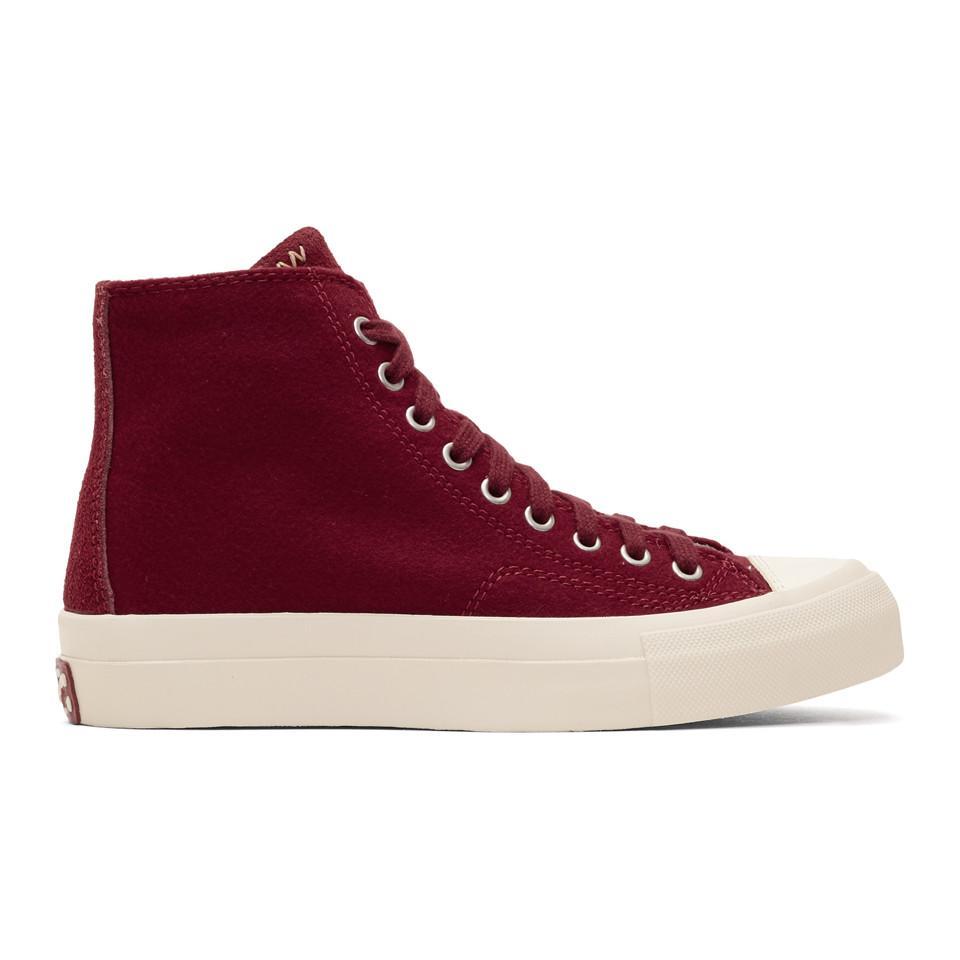 adidas Originals Burgundy Skagway High-Top Sneakers Ah5jfE0m