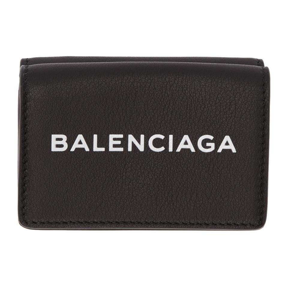 66e1fc00c8fd Lyst - Balenciaga Black Everyday Mini Wallet in Black for Men