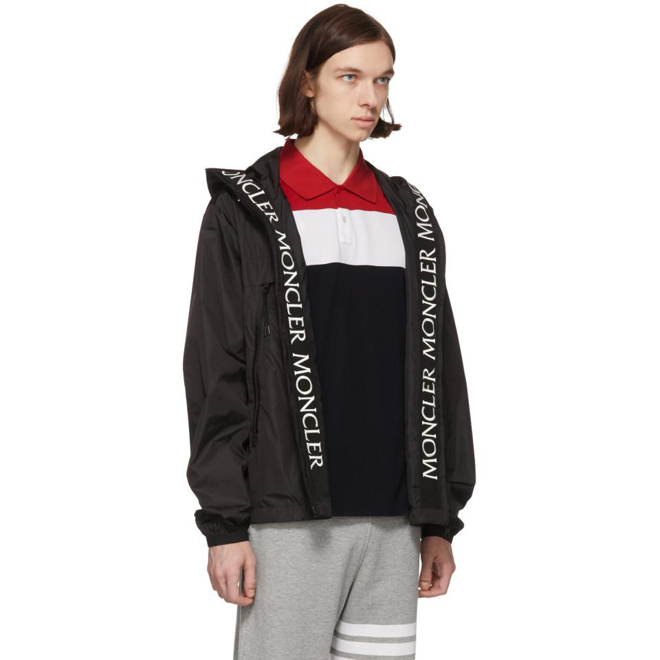 moncler black massereau jacket