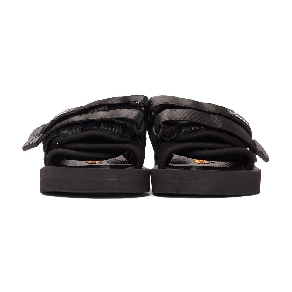 e569be9df151 Suicoke Black Suede Moto-vs Sandals in Black for Men - Lyst