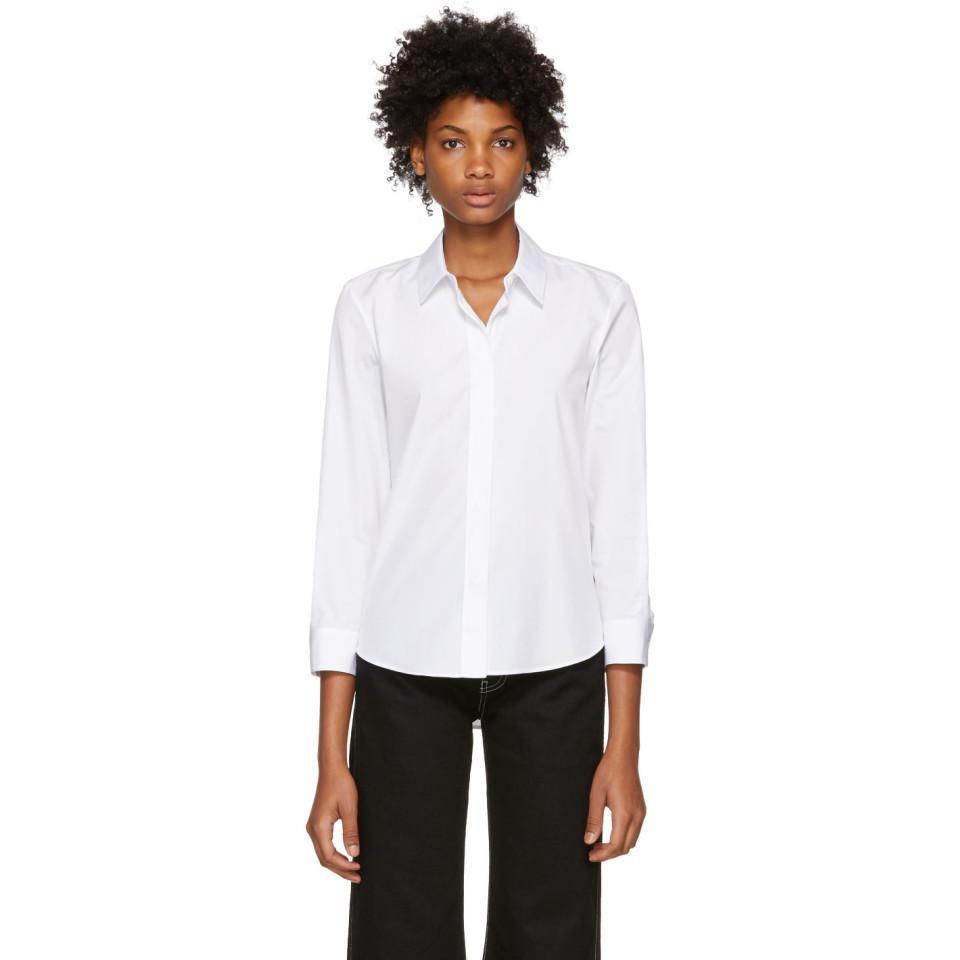 0ffe2ae30e03f1 Jil Sander White Boxy E-valentina Shirt in White - Lyst