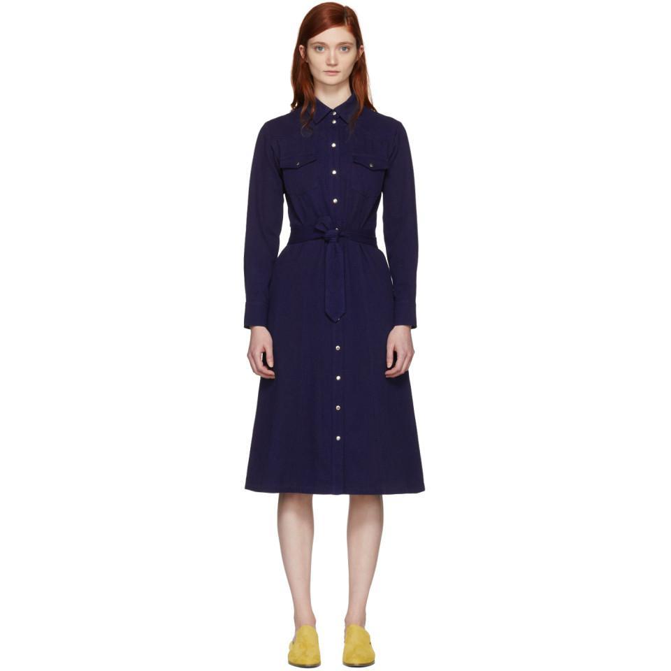 Indigo Annie Button Up Dress A.P.C. Cheap Pictures Visa Payment Cheap Online Cheap Price Discount Authentic Clearance Latest 0jf460q