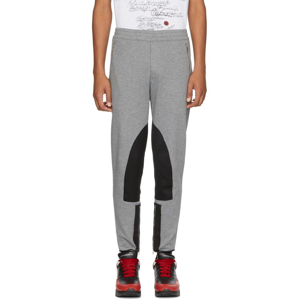 Grey Organic Lounge Pants Alexander McQueen Clearance 2018 Low Shipping Fee Sale Online Websites Cheap Online Store Sale Online Many Colors jNCVYZXa
