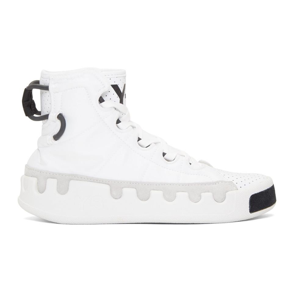 f01408e2c Y-3 White Kasabaru High-top Sneakers in White for Men - Lyst