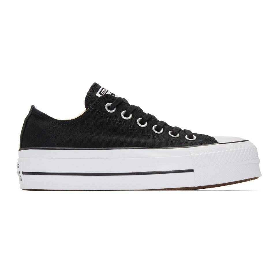 dbd8926369aa0 Lyst - Baskets noires et blanches Chuck Taylor All Star Lift ...