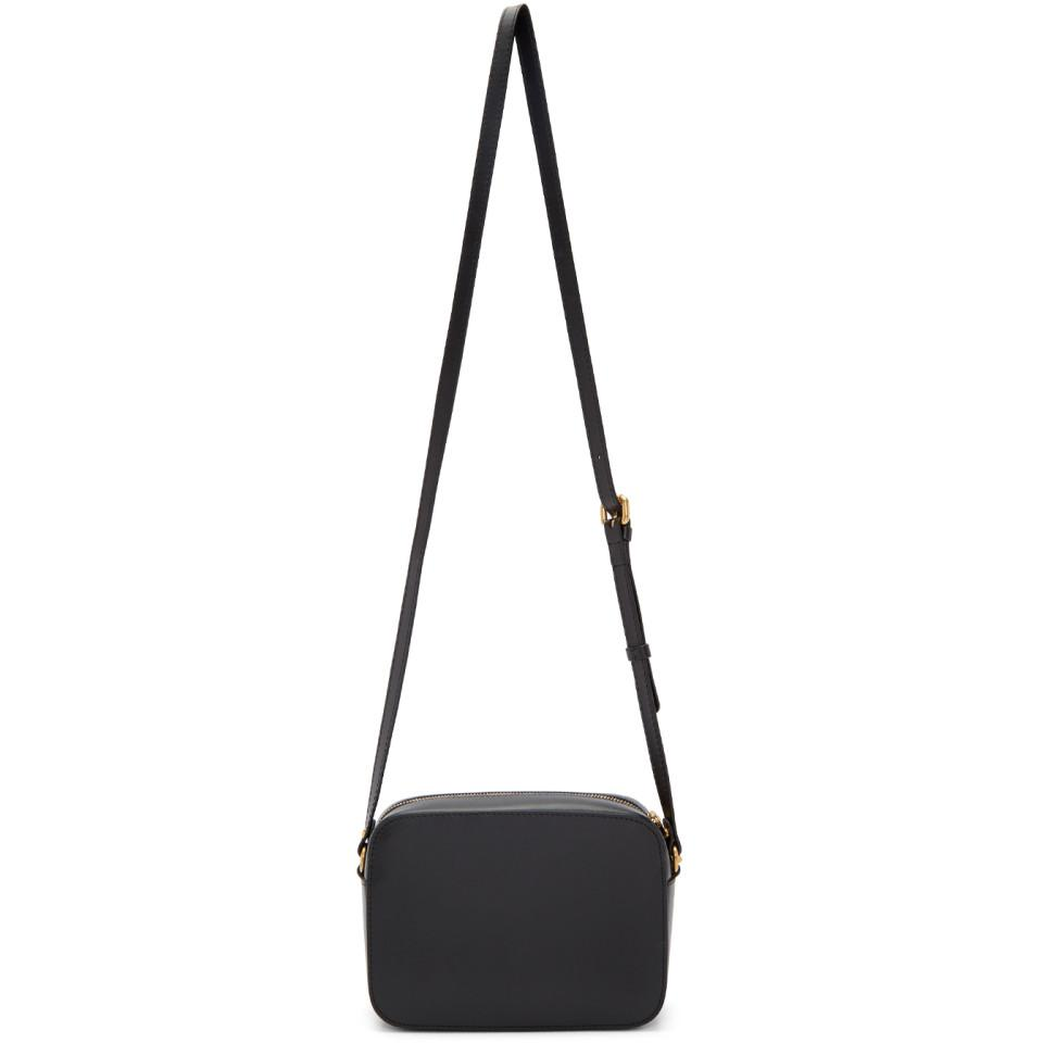 154f1e5281fa Versace Black Tribute Tonal Medusa Camera Bag in Black - Lyst
