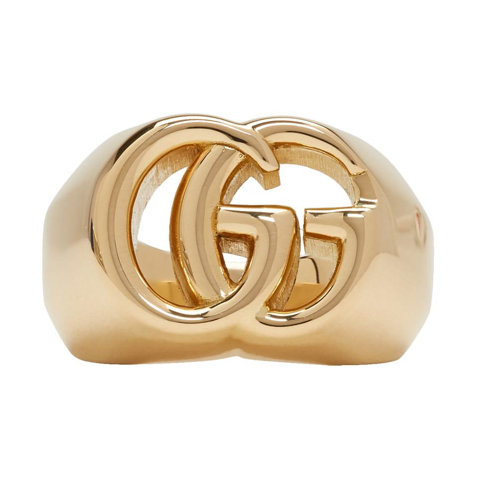 cbf20d133fbc Gucci Gold GG Running Ring in Metallic for Men - Lyst