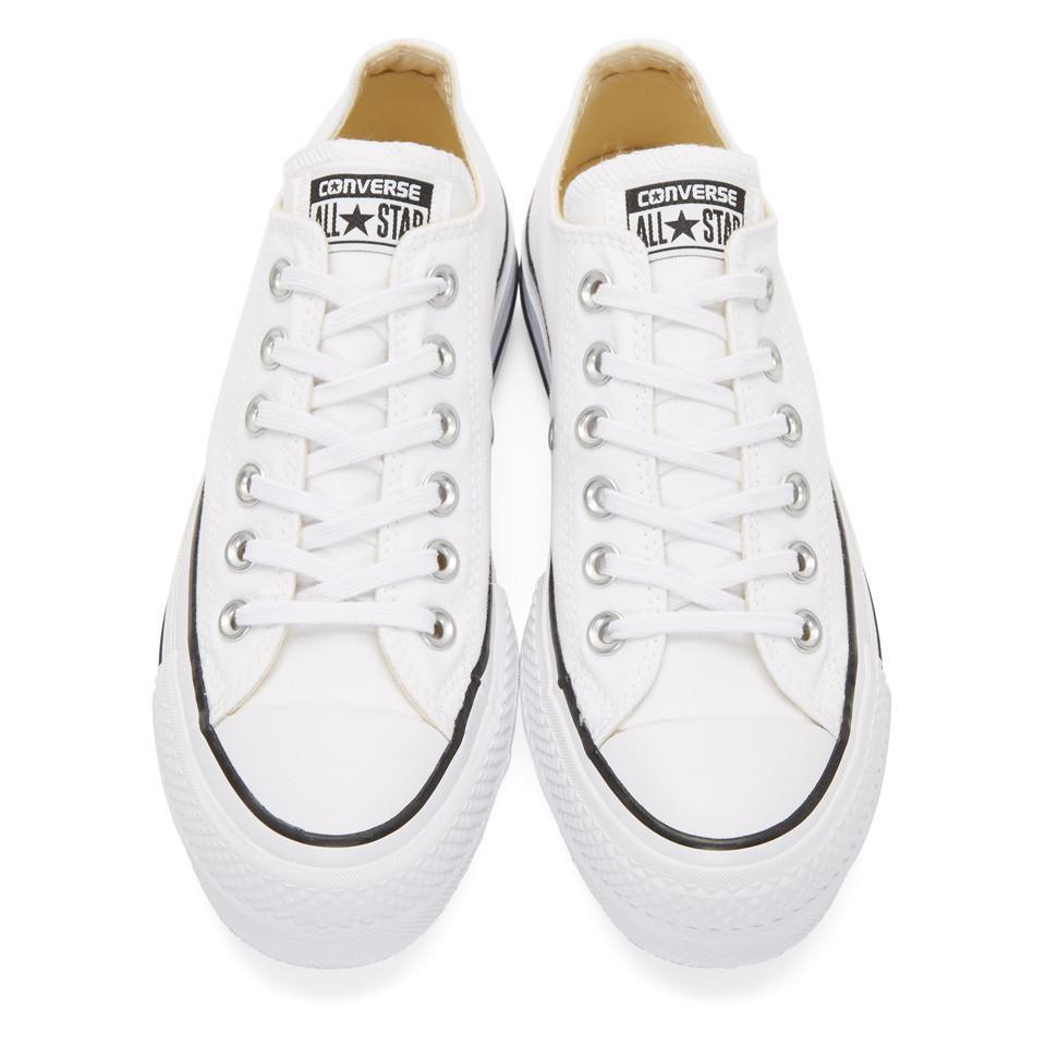 d9ddb6ba7d094 Baskets blanches Chuck Taylor All Star Lift Converse en coloris ...