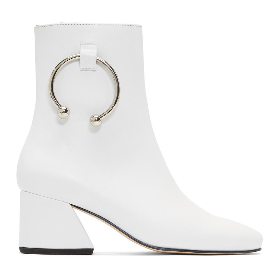 Acheter Pas Cher Faible Frais D'expédition De Nouveaux Styles En Ligne DORATEYMUR White Nappa Nizip Boots uhPH4q0GB7
