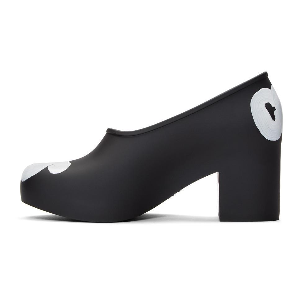 Black Melissa Edition Painted Logo Heels Comme Des Gar?ons aXPA7XDQ