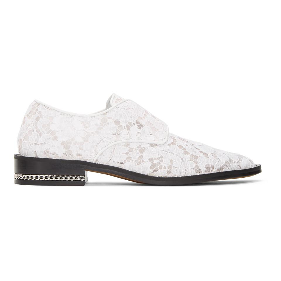 Givenchy White Lace Loafers LjClWfUiE