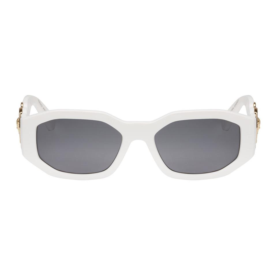c1d7a05fd7 Versace White Medusa Biggie Sunglasses for Men - Lyst