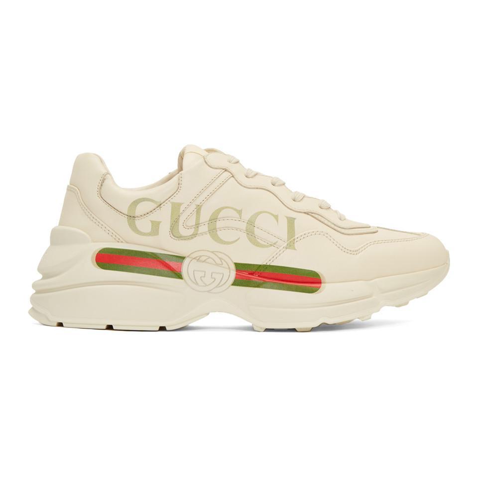 Gucci Off-White Vintage Logo Rhyton Sneakers XwNKhFUAH