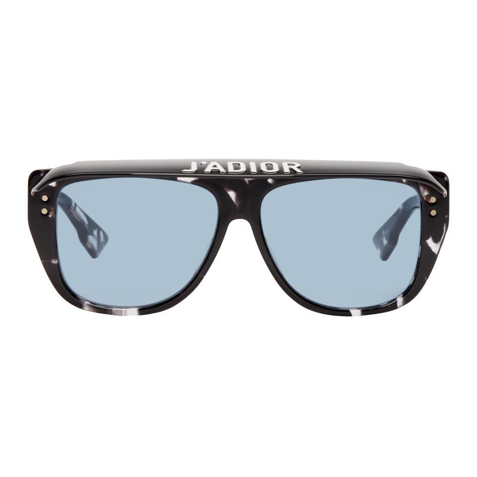 Lyst - Lunettes de soleil noires et bleues Club 2 Dior en coloris Noir 008497b6654